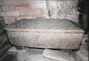 Bordeaux Eglise St-Seurin Sarcophage décoré VIe siècle